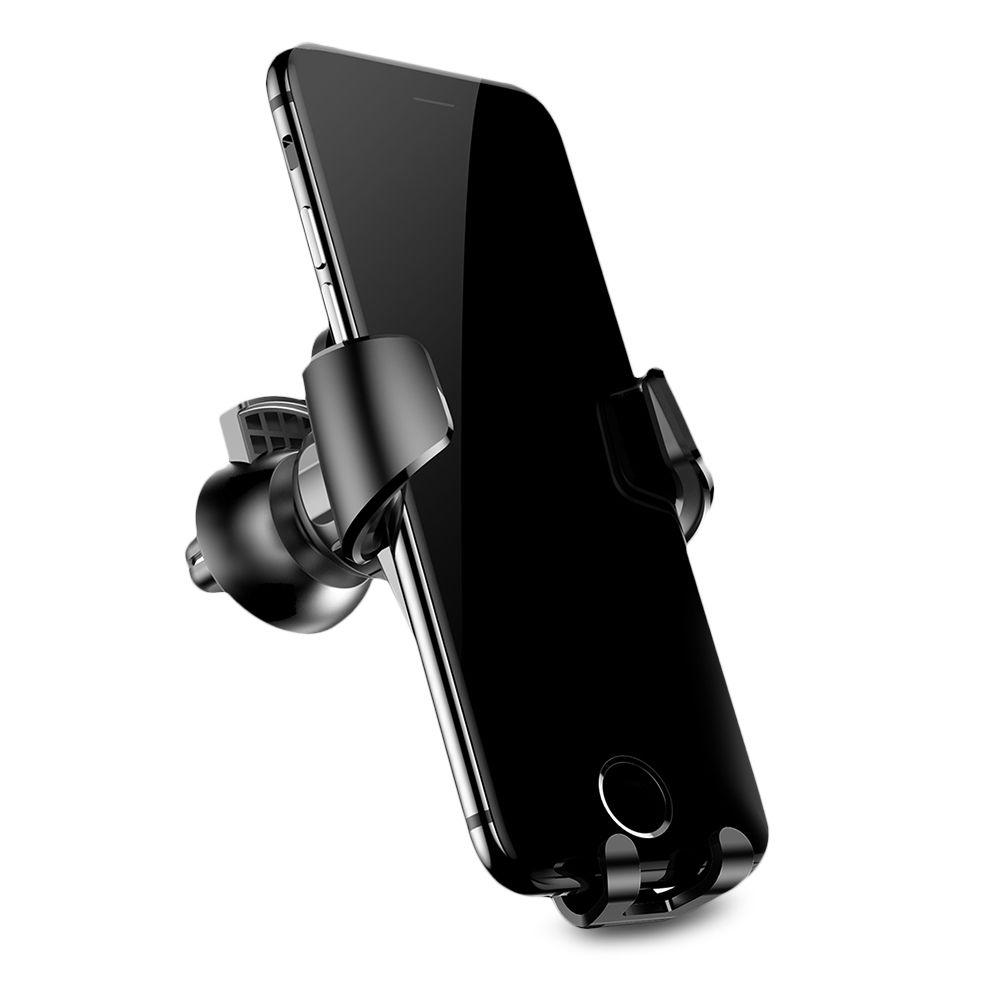Автомобильный держатель для телефона в дефлектор Baseus Gravity - Черный (SUYL-B01)