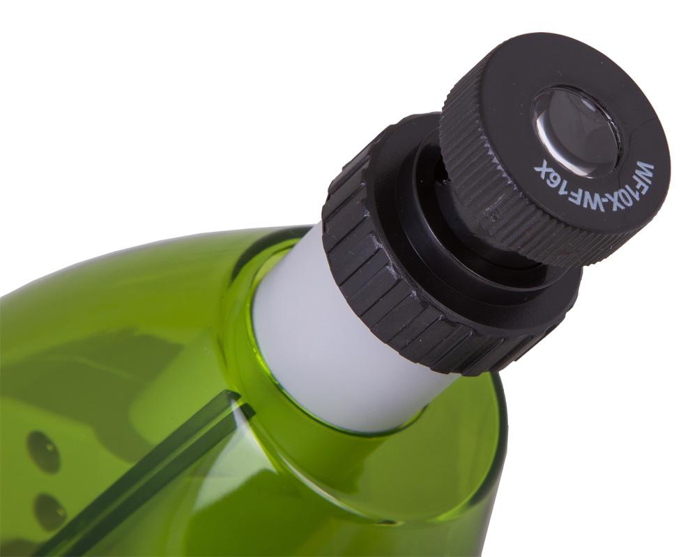 Микроскоп Levenhuk LabZZ M101 LimeЛайм (+ Антисептик-спрей для рук в подарок!)