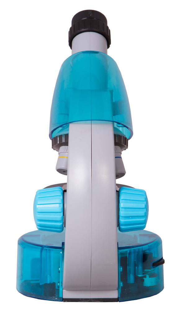 Микроскоп Levenhuk LabZZ M101 AzureЛазурь (+ Антисептик-спрей для рук в подарок!)