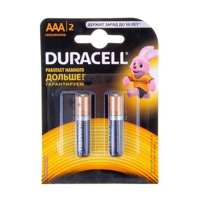 """Набор алкалиновых батареек """"Duracell Original"""", тип AAA, 2 шт"""