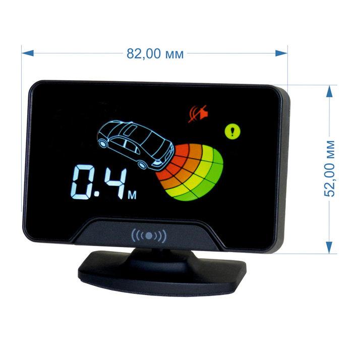 Парктроник модель AAALine LCD-14 Black (+ Антисептик-спрей для рук в подарок!)
