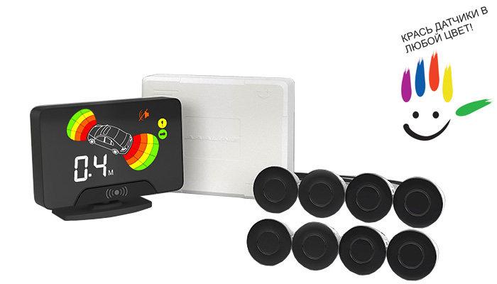 Парктроник модель AAALine LCD-18 Black (+ Антисептик-спрей для рук в подарок!)