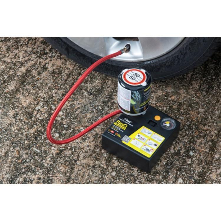 Компрессор автомобильный с герметиком AirMan Res Q Tire Repair (+ Мешки для колёс в подарок!)