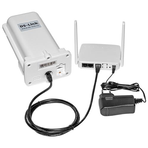 Уличный модем ДалСвязь DS-4G-5kit (LAN, Wi-Fi, кабель PoE 20м.) (+ Кронштейн в подарок!)