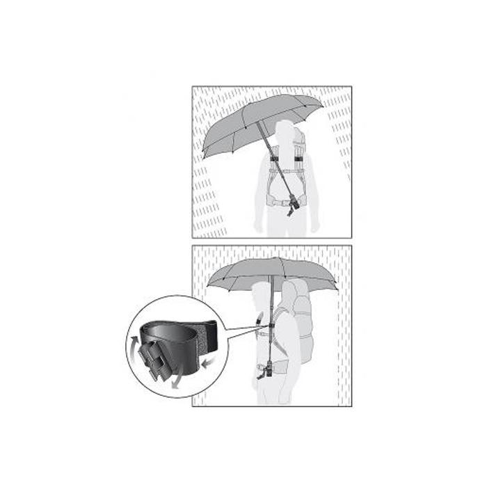 Зонт Telescope Handsfree (черный)