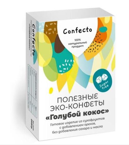 Полезные эко-конфеты «Голубой кокос»