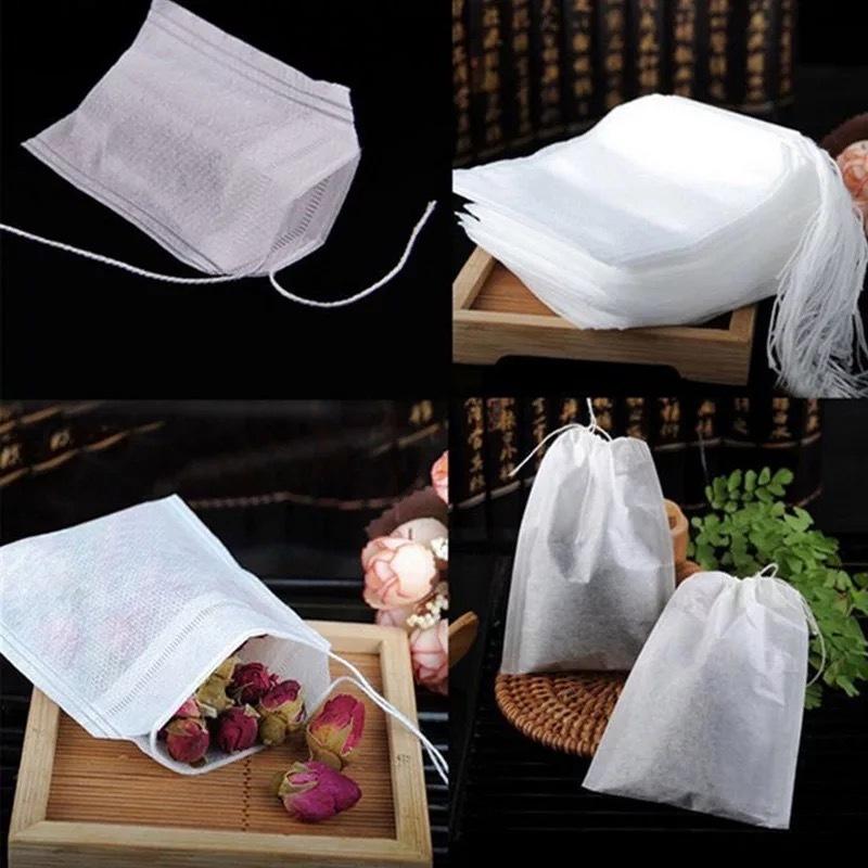 Чайные пакетики для заваривания чая и трав Фильтр пакеты 100 штук Белые