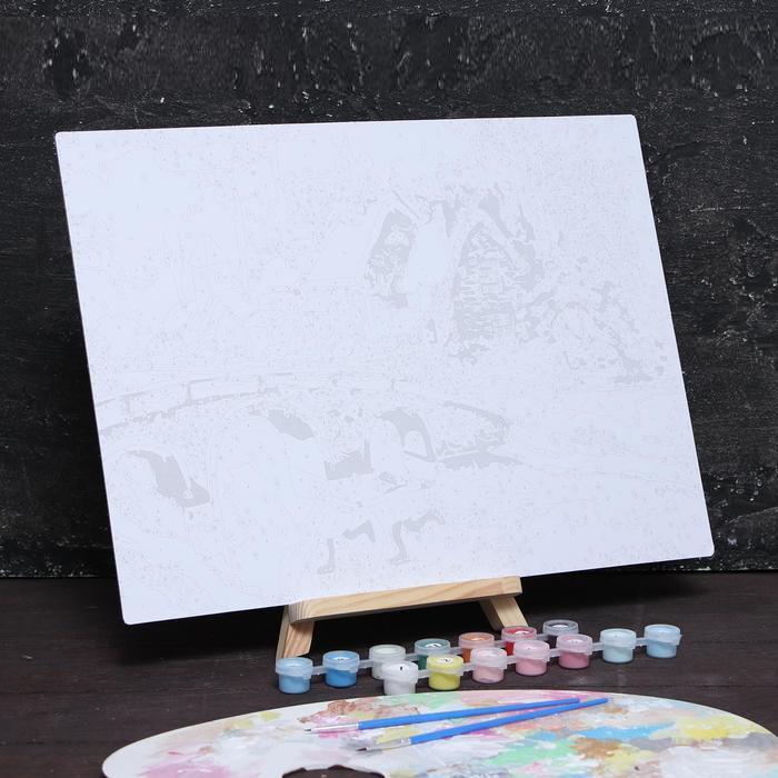 Роспись по номерам без подрамника «Каток» 30 x 40 см
