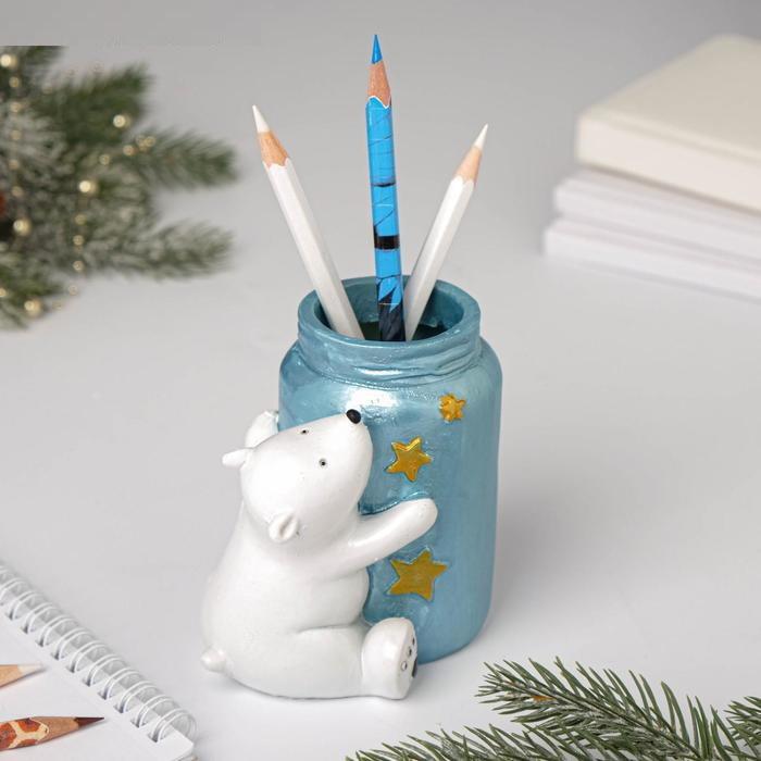 """Подставка для карандашей """"Мишка с баночкой"""""""