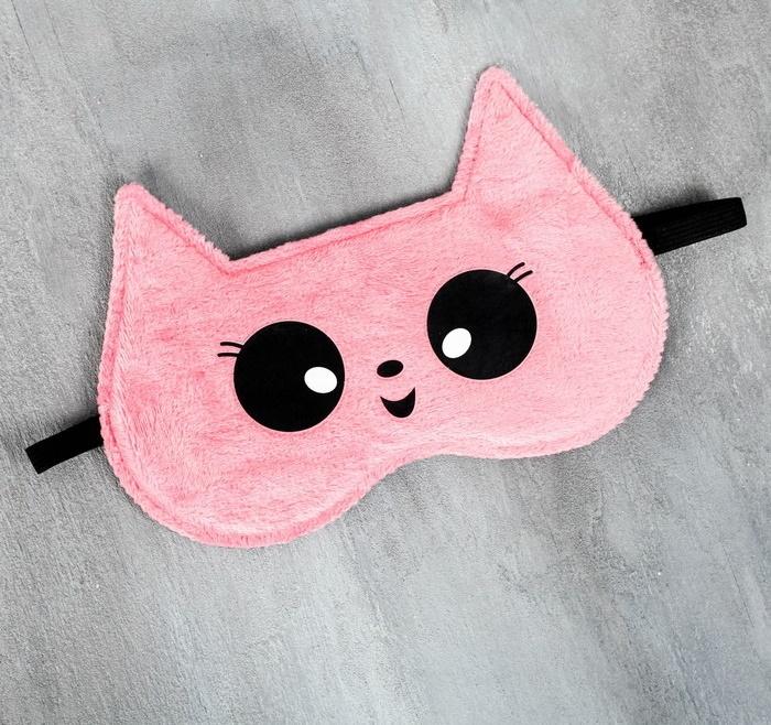 Подарочный набор Девушке: массажёр, повязка для глаз «Для сладких снов» Котик