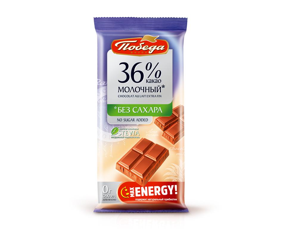 Шоколад молочный без сахара, 36%