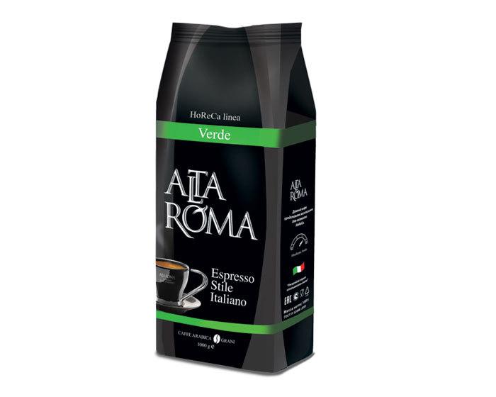 Кофе в зернах Alta Roma Verde, 1 кг (Альта Рома)