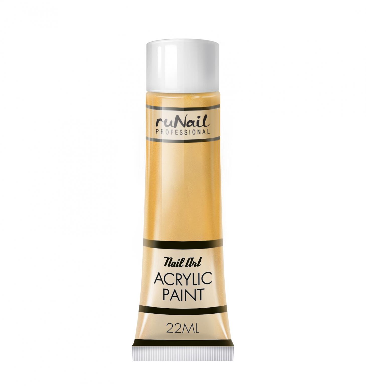 Акриловая краска для нейл-арт (цвет золотой), 22 мл, №2297