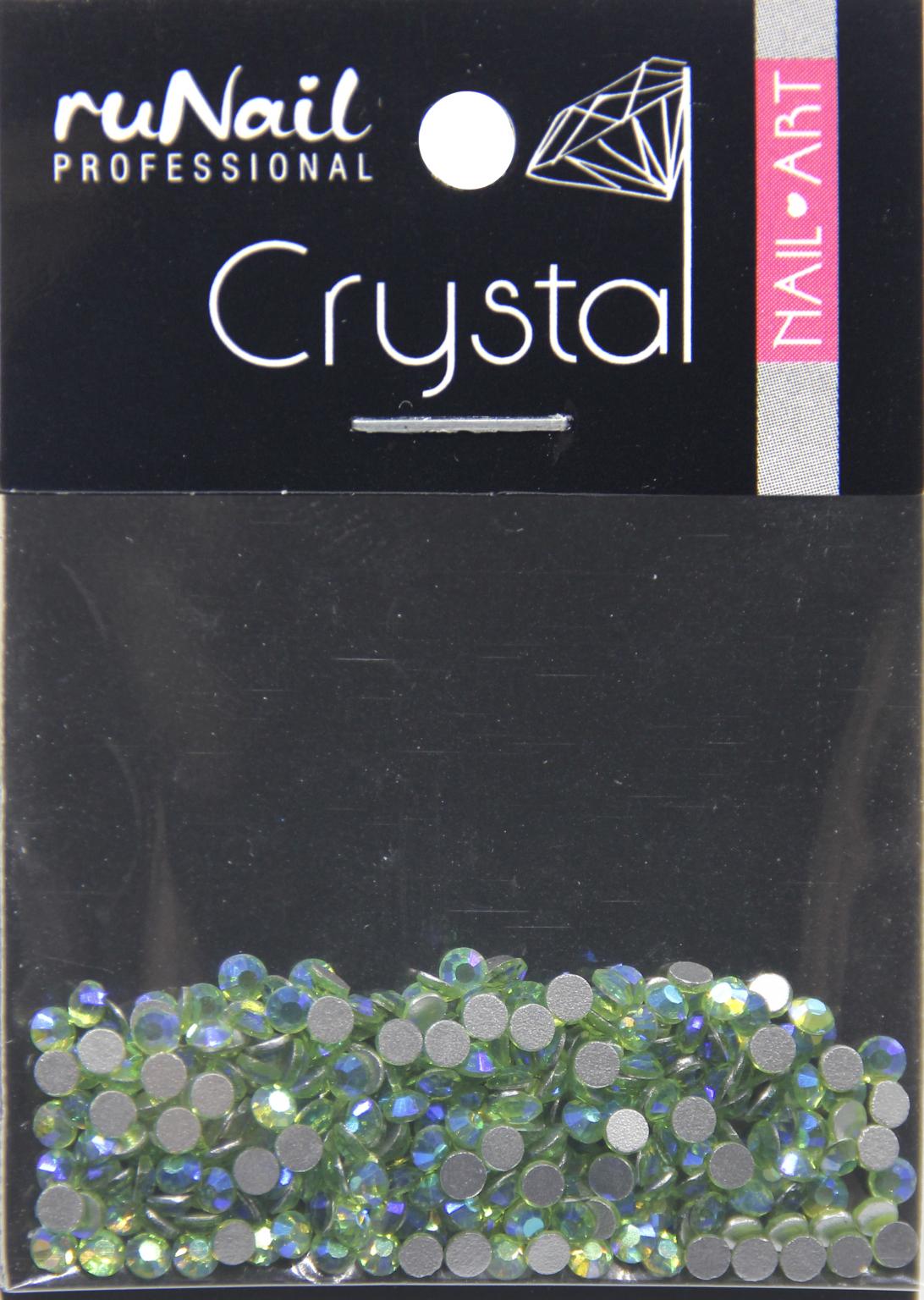 Дизайн для ногтей: стразы (цвет: голографический, зелено-голубой, 2 мм), 288 шт, № 4138