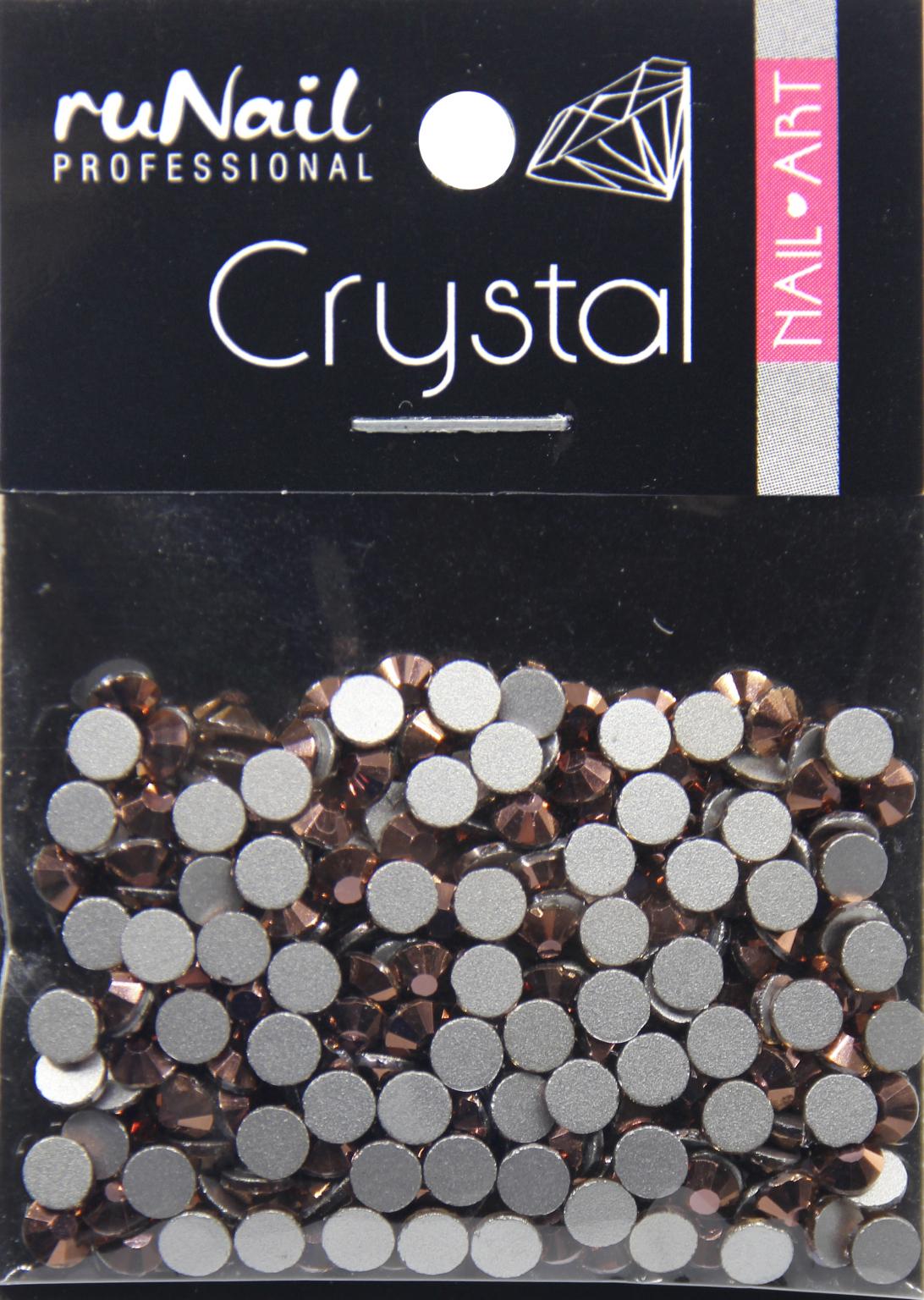 Дизайн для ногтей: стразы (цвет: розовое золото, 3 мм), 288 шт, № 4133