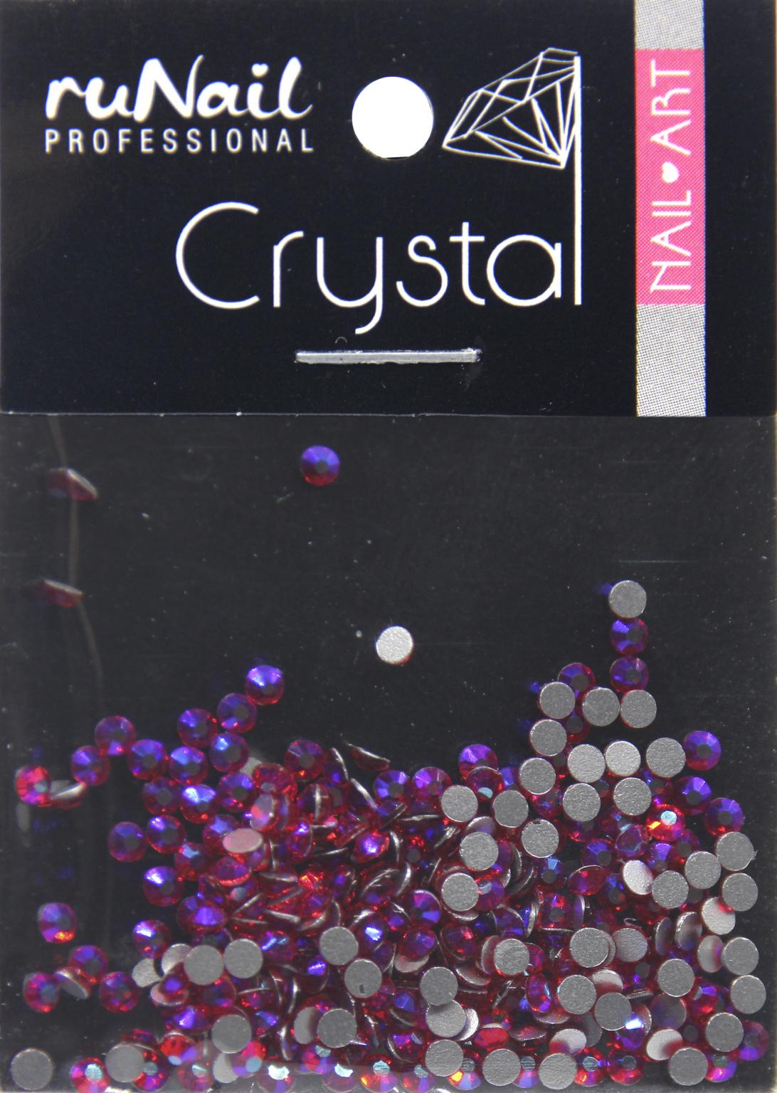 Дизайн для ногтей: стразы (цвет: голографический, рубиновый, 2 мм), 288 шт, № 4140