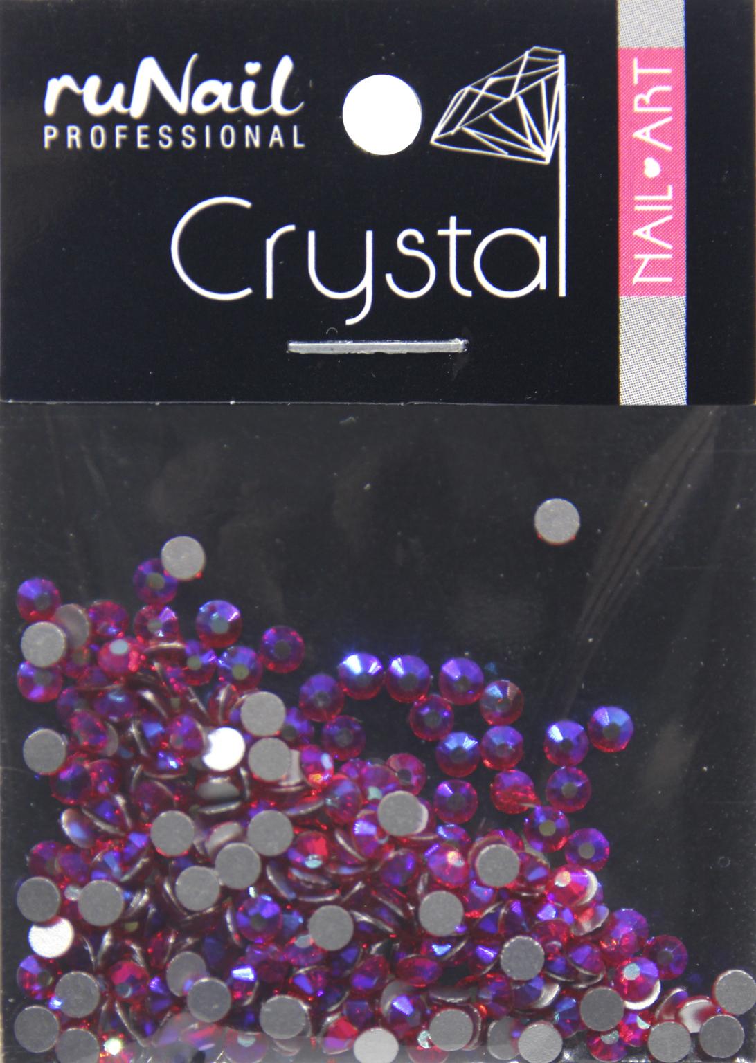 Дизайн для ногтей: стразы (цвет: голографический, рубиновый, 2,3 мм), 288 шт, № 4141