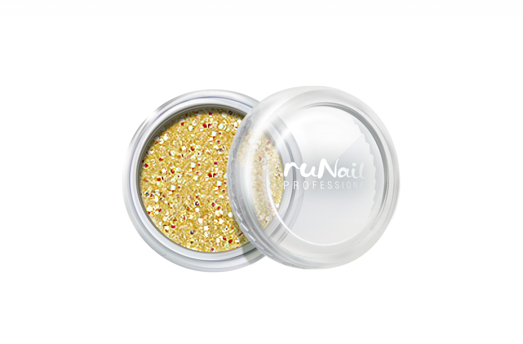 Дизайн для ногтей: блестки (цвет: золотой) № 0648
