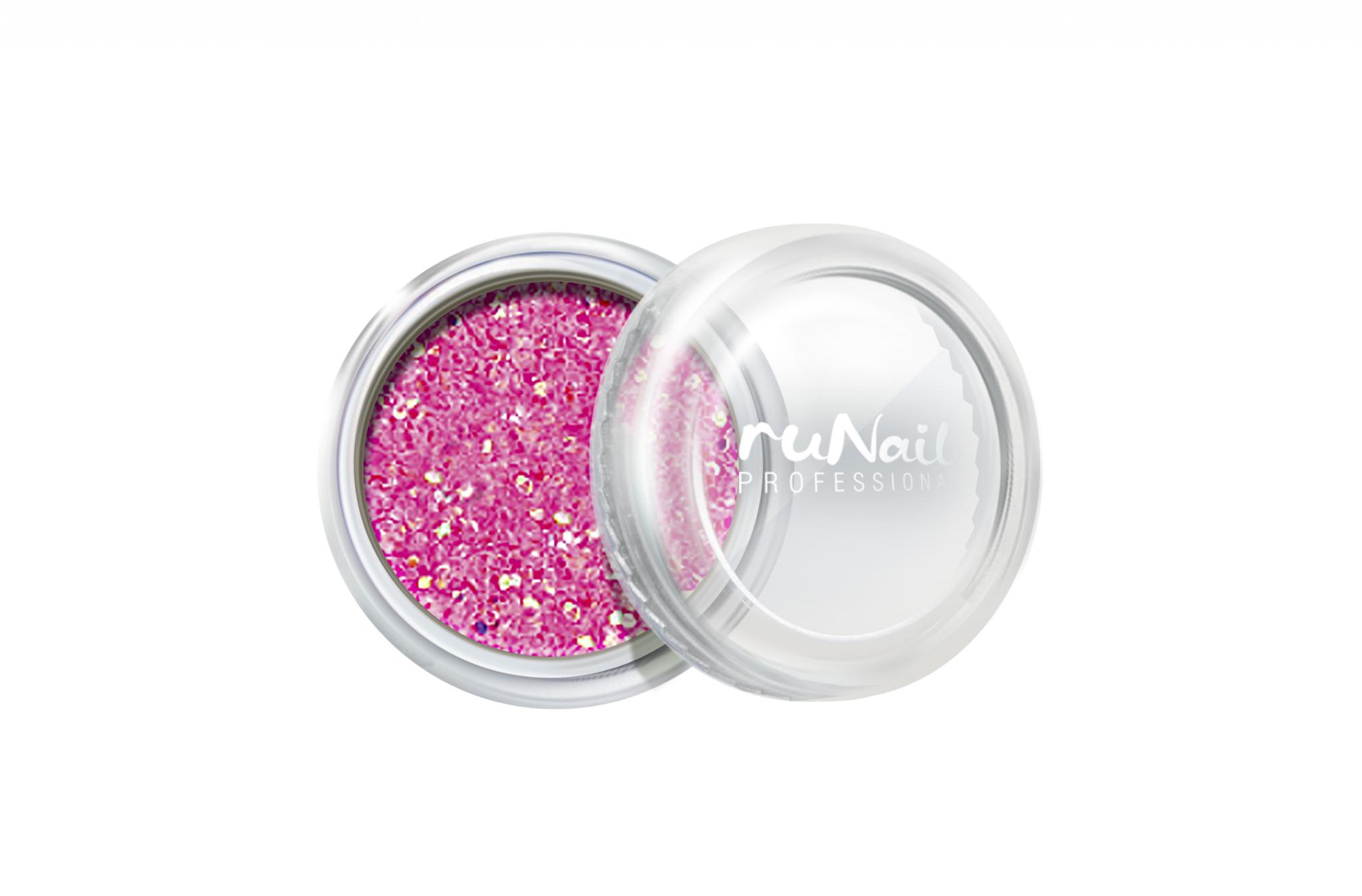 Дизайн для ногтей: блестки (цвет: неоново-розовый) № 0659