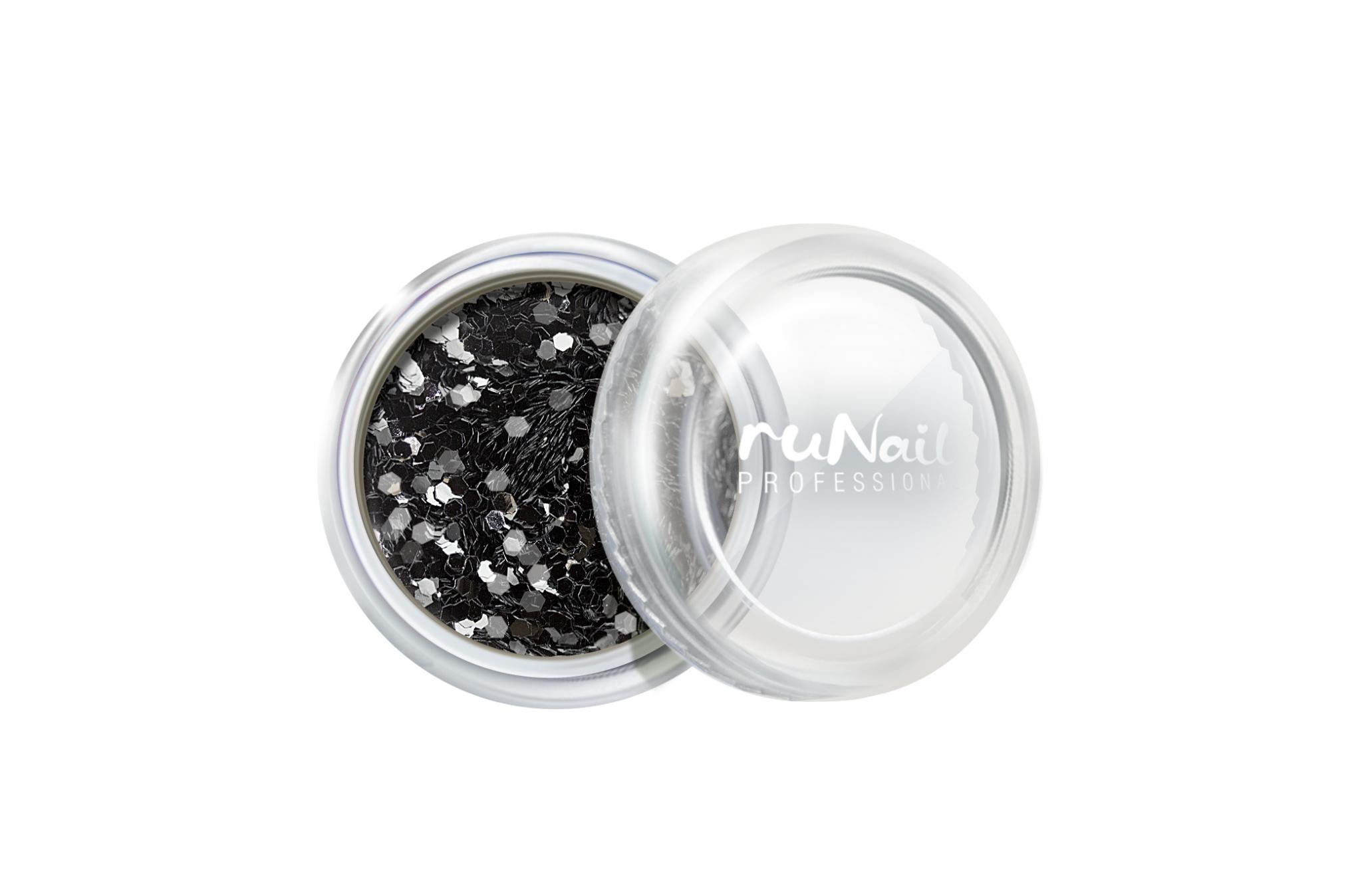 Дизайн для ногтей: конфетти (цвет: черный) № 1995