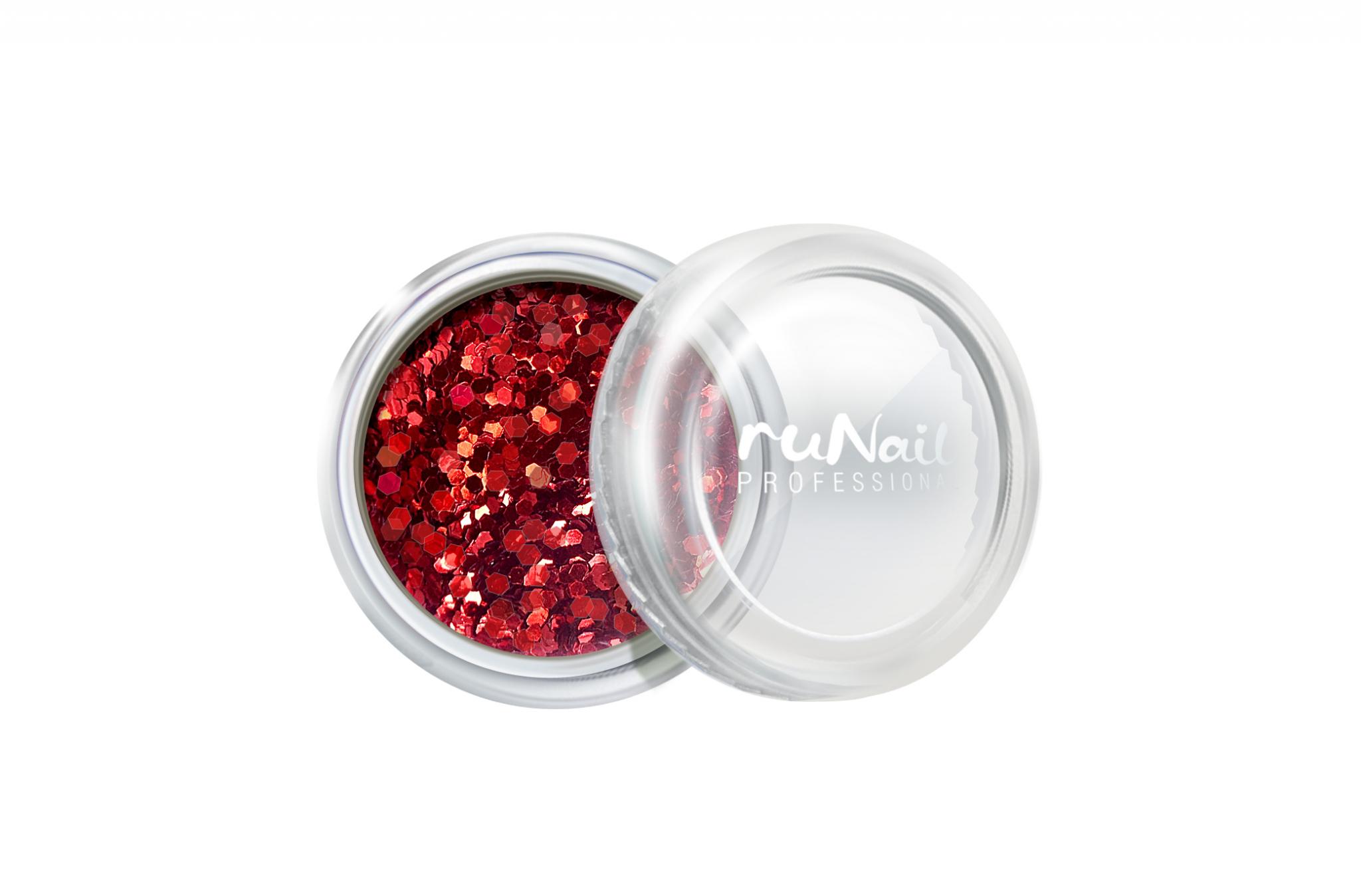 Дизайн для ногтей: конфетти (цвет: красный) № 2000