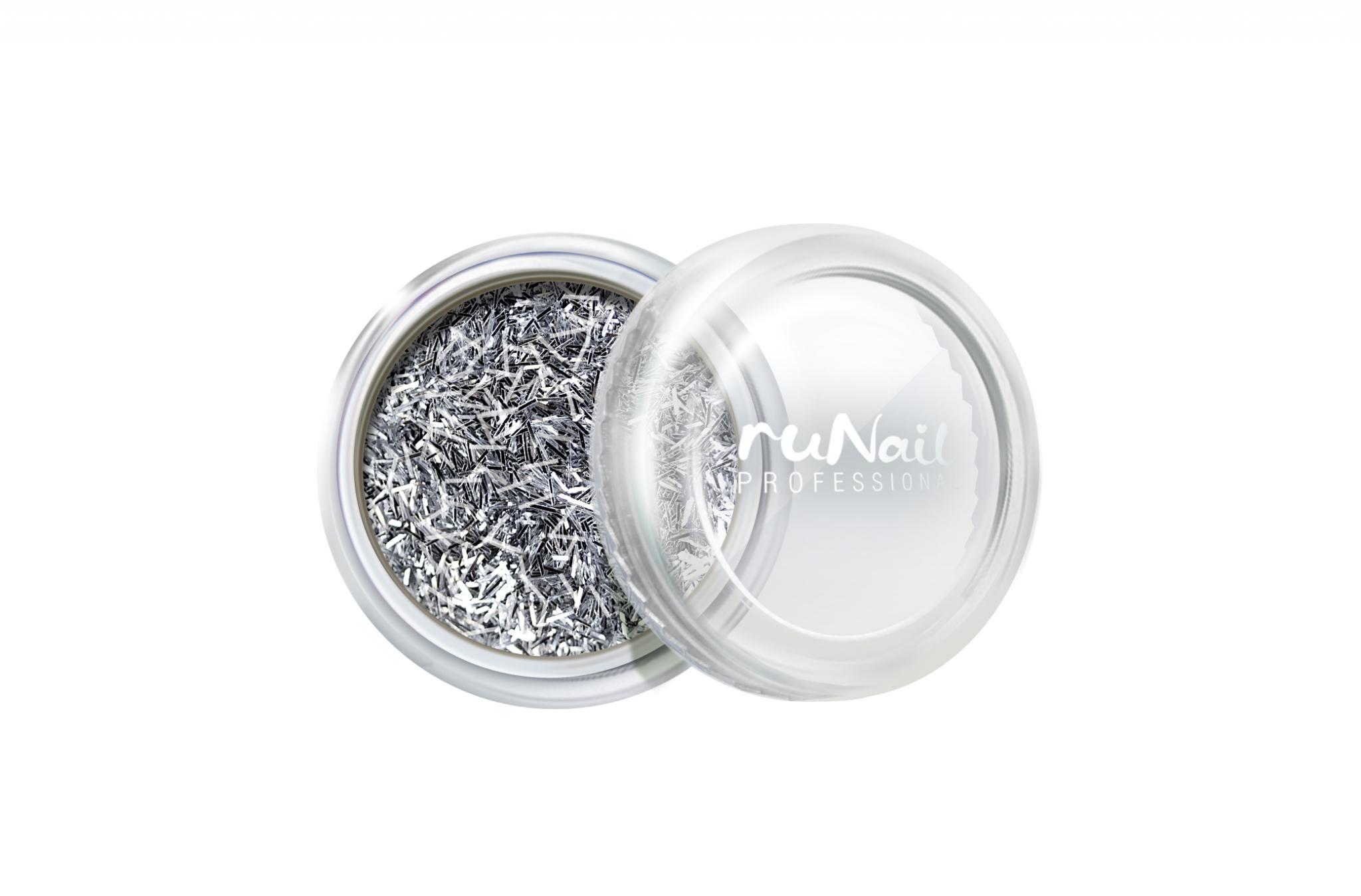 Дизайн для ногтей: стружка (цвет: серебряный) № 2003