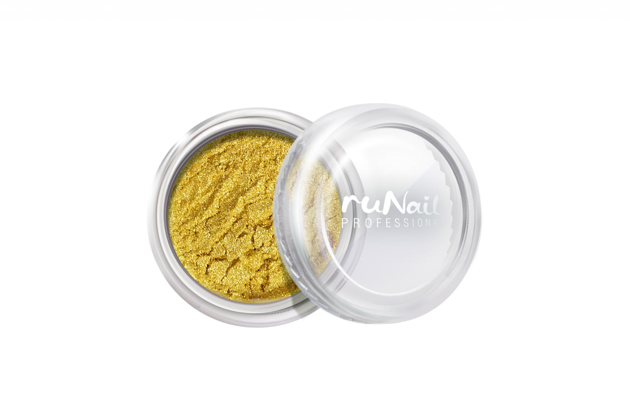Дизайн для ногтей: пыль (цвет: золотой, матовый) № 2010