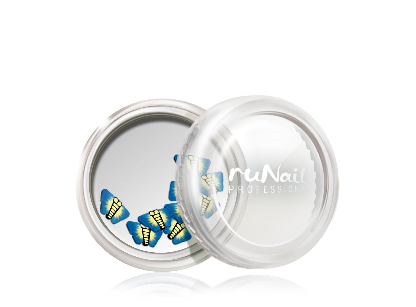 Дизайн для ногтей: резиновые аппликации (бабочки, цвет: синий) №0415