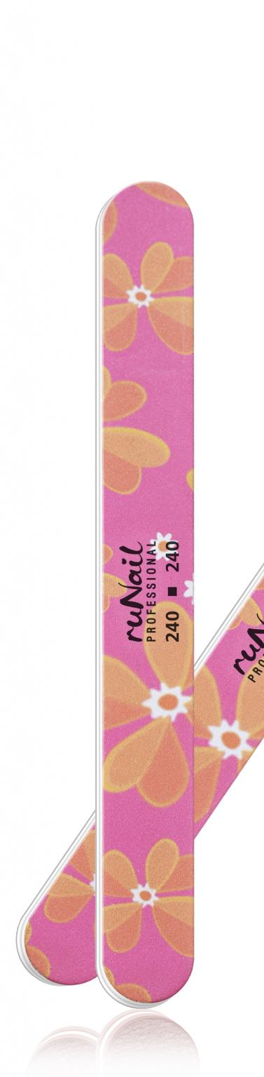Профессиональная пилка для натуральных ногтей (цветная, закругленная, 240/240) №0207