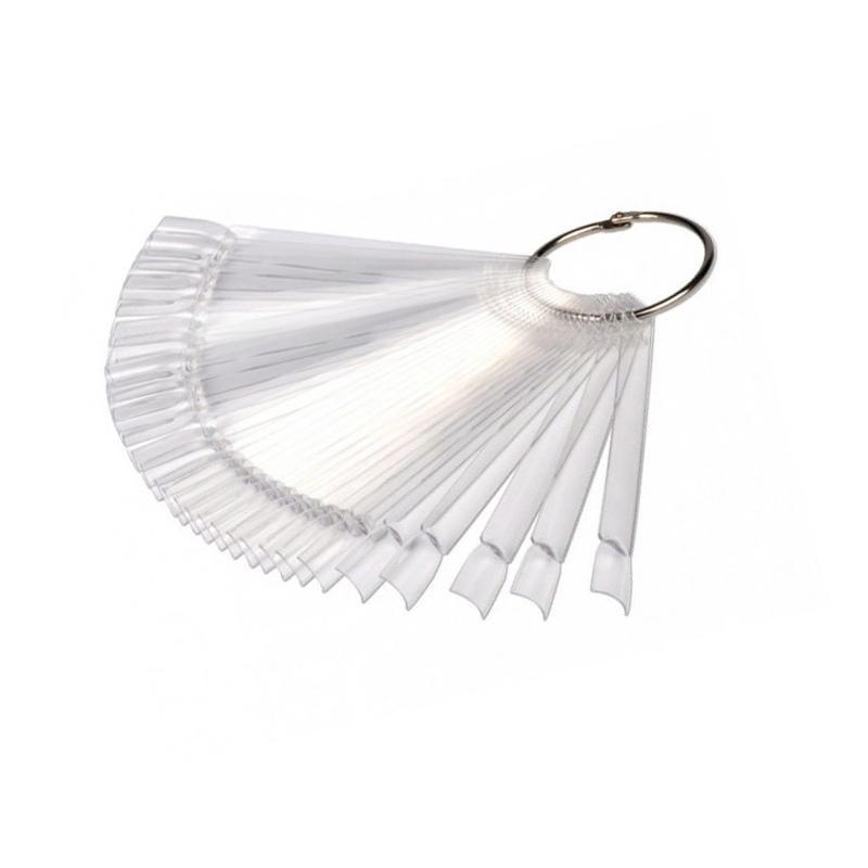 Палитра веерная для лаков и дизайна, прозрачная, 50 шт, № 4453