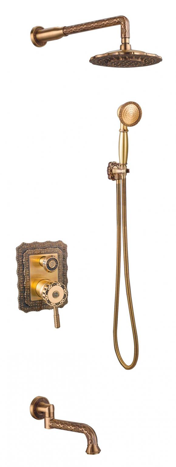 Душевой комплект Zorg Antic A 104DS-BR