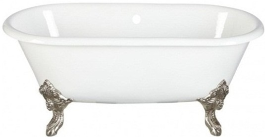 Чугунная ванна Magliezza Patricia 183x80, ножки хром