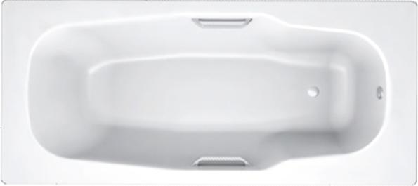 Стальная ванна BLB Atlantica 180x80 с ручками