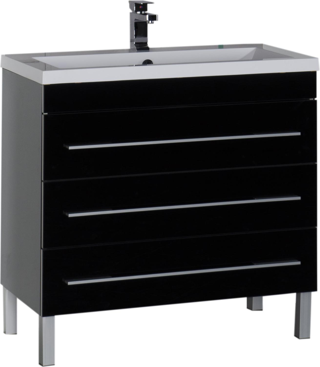 Тумба для комплекта Aquanet Верона 100 черная