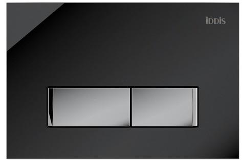 Клавиша смыва IDDIS Uniglass универсальная черное стекло 010 (UNG10GBi77)