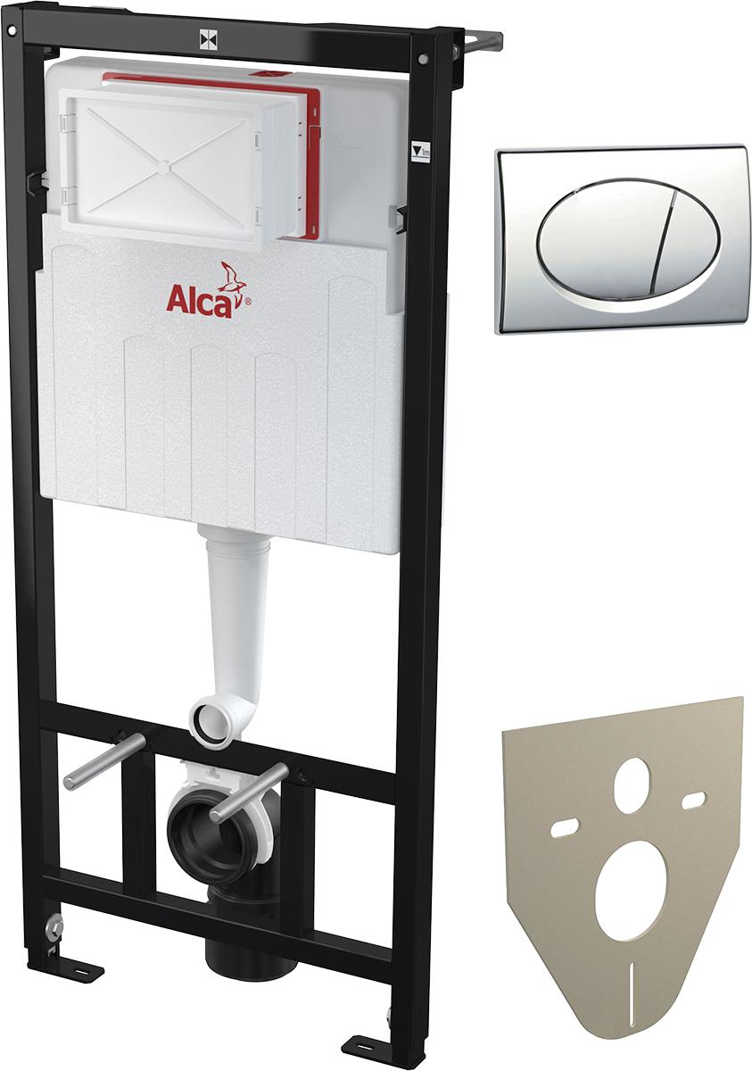 Система инсталляции для унитазов AlcaPlast Sadromodul AM101/1120 + M71 3 в 1