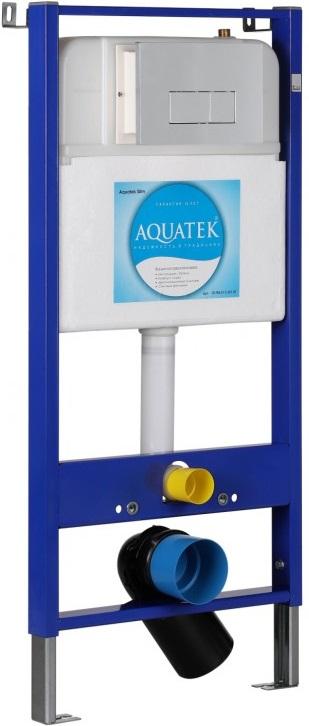 Инсталляция для унитаза Aquatek Slim 113x51 INS-0000003 белая клавиша