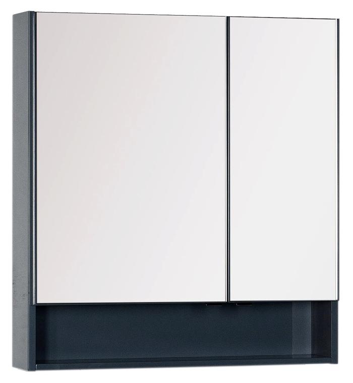 Зеркало-шкаф Aquanet Виго 80 сине-серый