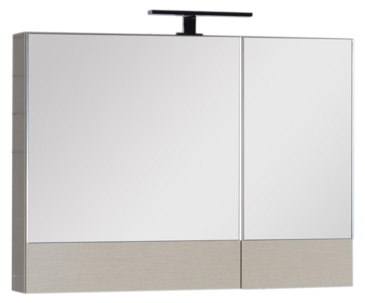 Зеркало-шкаф Aquanet Нота 90 камерино светлый дуб