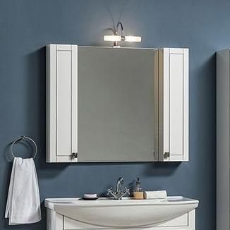 Зеркало-шкаф Aquanet Честер 105 белый, патина серебро