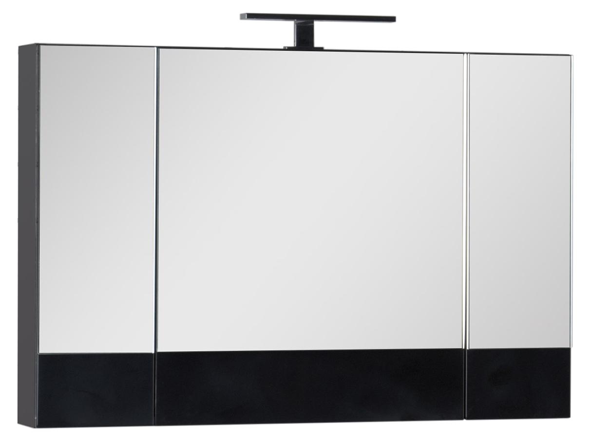 Зеркало-шкаф Aquanet Нота 100 камерино черный