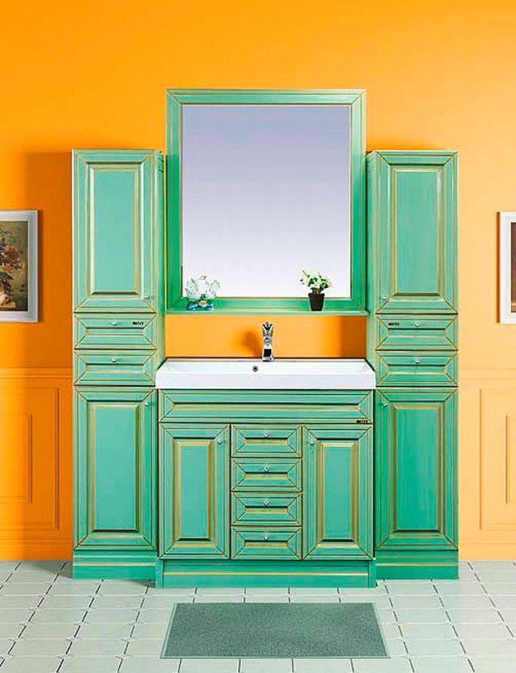 Мебель для ванной Misty Vena 75 салатовая, патина