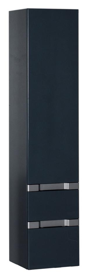 Шкаф-пенал Aquanet Виго сине-серый