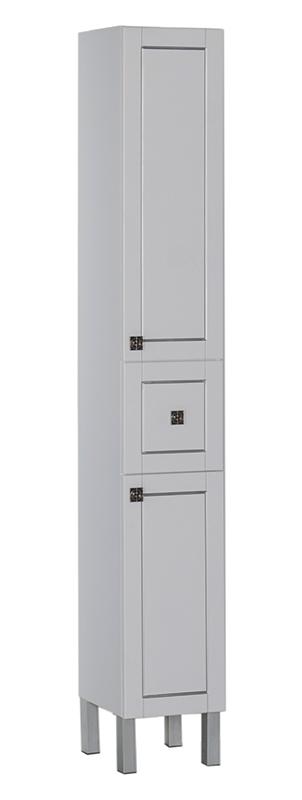 Шкаф-пенал Aquanet Честер 30 белый, патина серебро