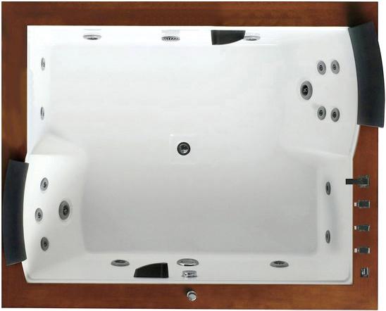 Гидромассажная ванна Gemy  186x151 см (G9052 II B L)