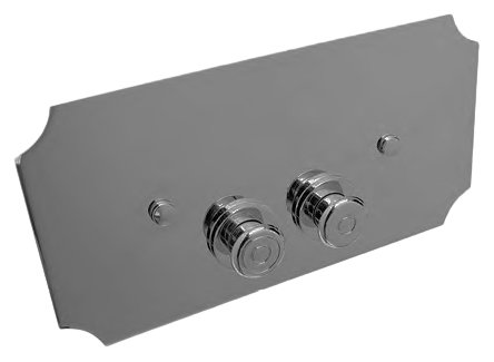 Кнопка смыва Devon&devon  хром (DEPLCR)