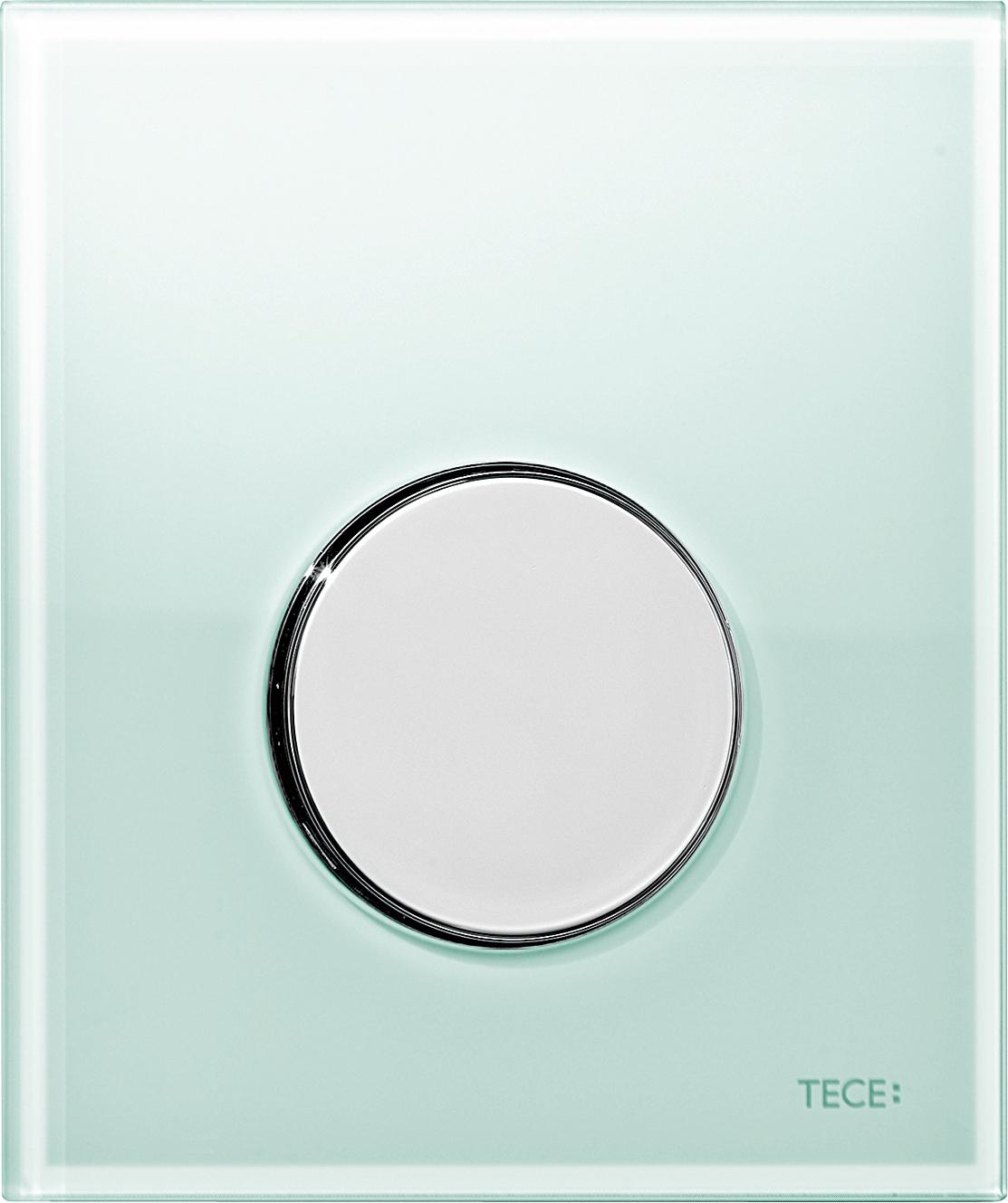 Кнопка смыва Tece Loop зеленый, хром (9242653)