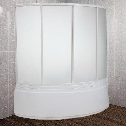 Шторка на ванну Bas Лагуна 4 ств., пластик