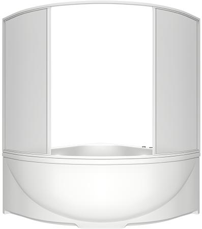 Шторка на ванну Bas Дрова 4 ств., пластик