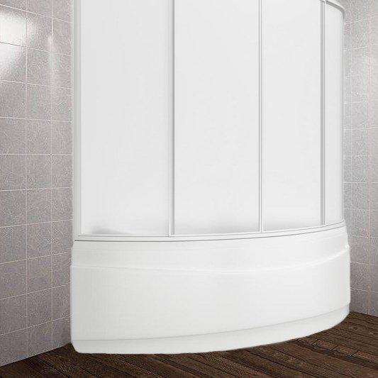 Шторка на ванну Bas Вектра 4 ств., пластик